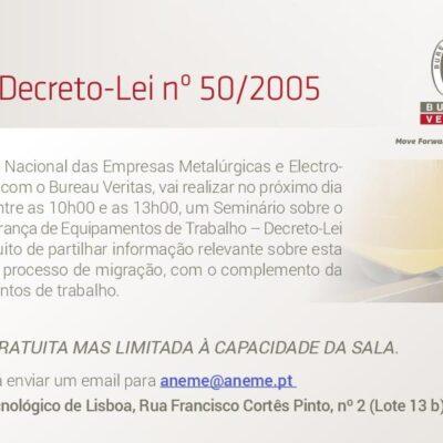 """Seminário sobre """"ISO 45001 e Segurança de Equipamentos de Trabalho"""""""